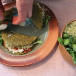 Assembling raw tacos